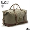 multi compartment leather canvas weekender travel tote bag for women