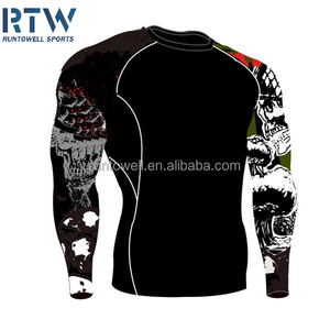 Custom bjj printed rash guard, rashguard, compression wear