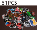 2016 Free Shipping Fixed Collocation 51PCS Mixed Decor Toy Laptop Stickers For Kids Otorcycle Skateboard Doodle