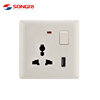 Songri Brand Electrical Wall Socket and Electric Wall Switch