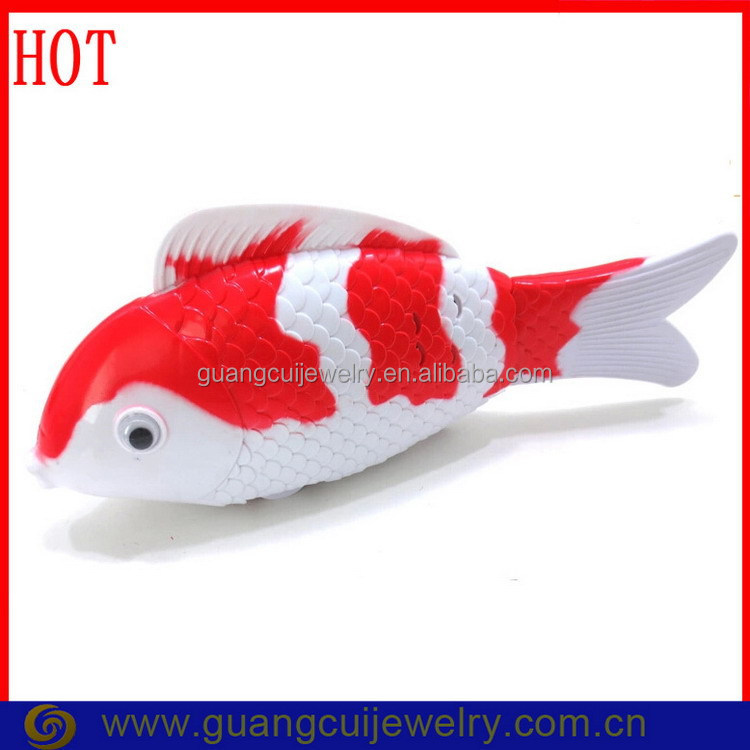 Fashion battery operated plastic swimming fish toys