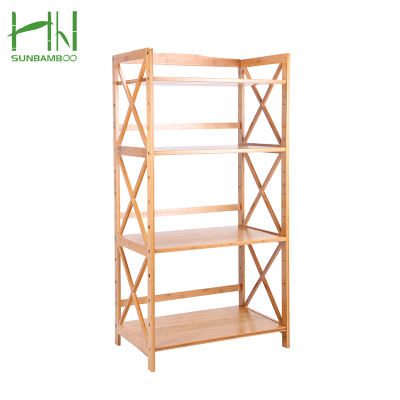 China manufacturer hot sale household bamboo microwave oven organizer rack
