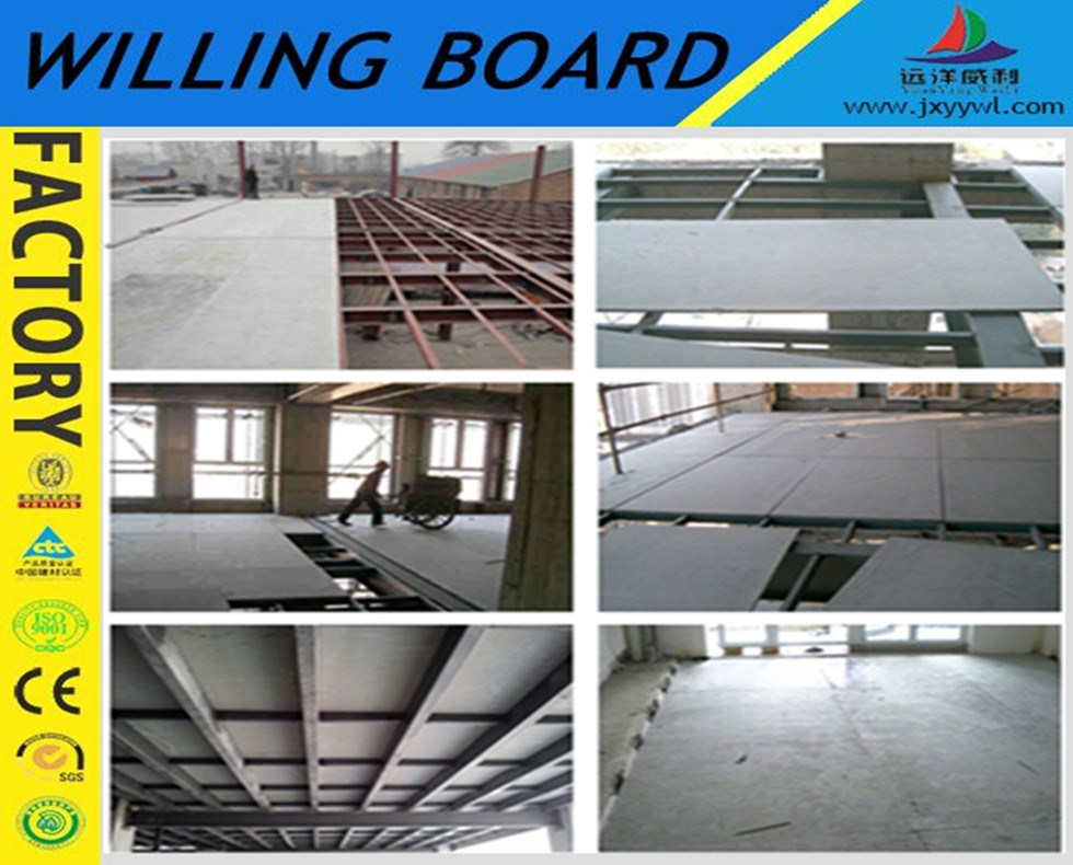 steel structure floor fiber cement board