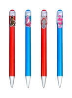 2015 cartoon plasitc ballpoint pen for school/office/ laboratory