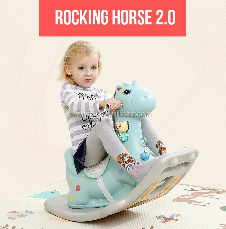 Cheap plastic indoor baby rocking horse Ride On Animal Toy