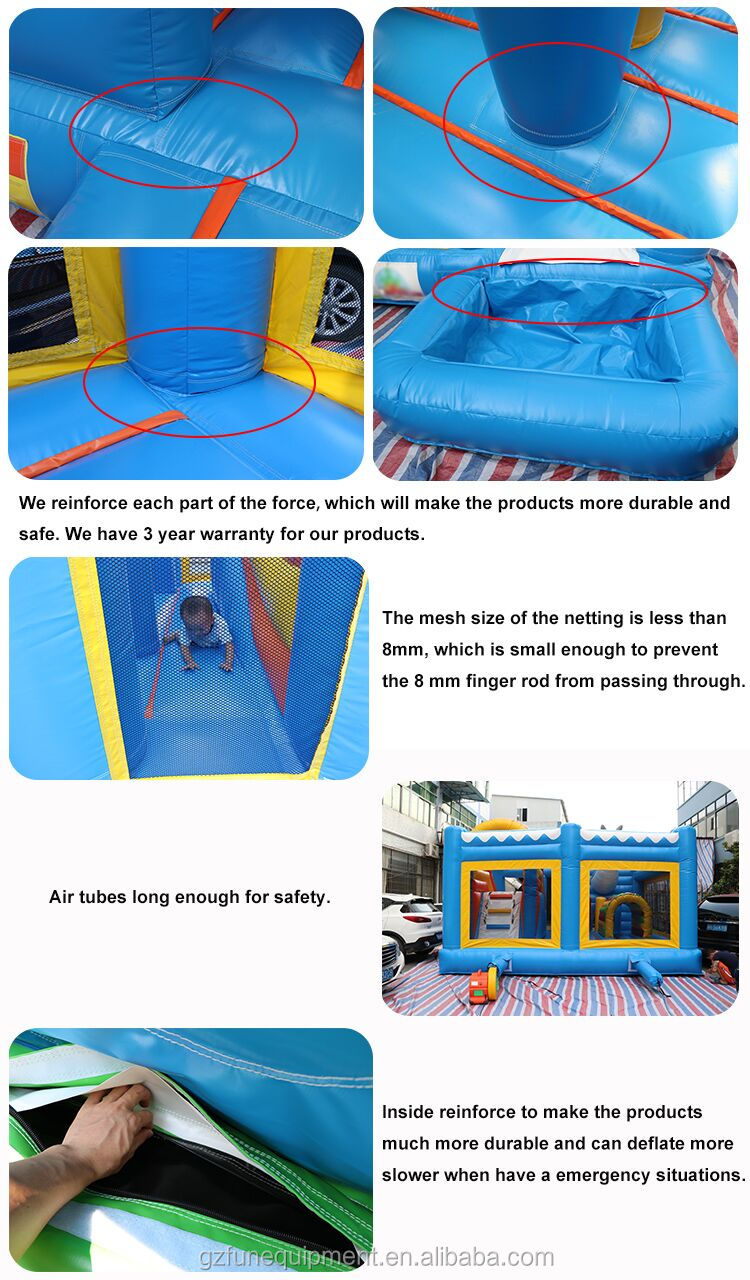 Customized Commercial Funny balloon castle combo Inflatable Bounce House For Kids And Adult