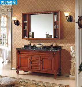 Classical Style Solidwood Cabinet for Bathroom Foshan Factory (BY-F8059)