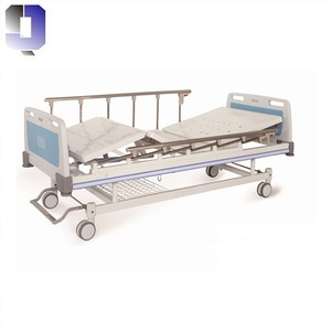 JQ-FA-7 Hospital Equipment metal frame bed manual two crank adult patient nursing bed