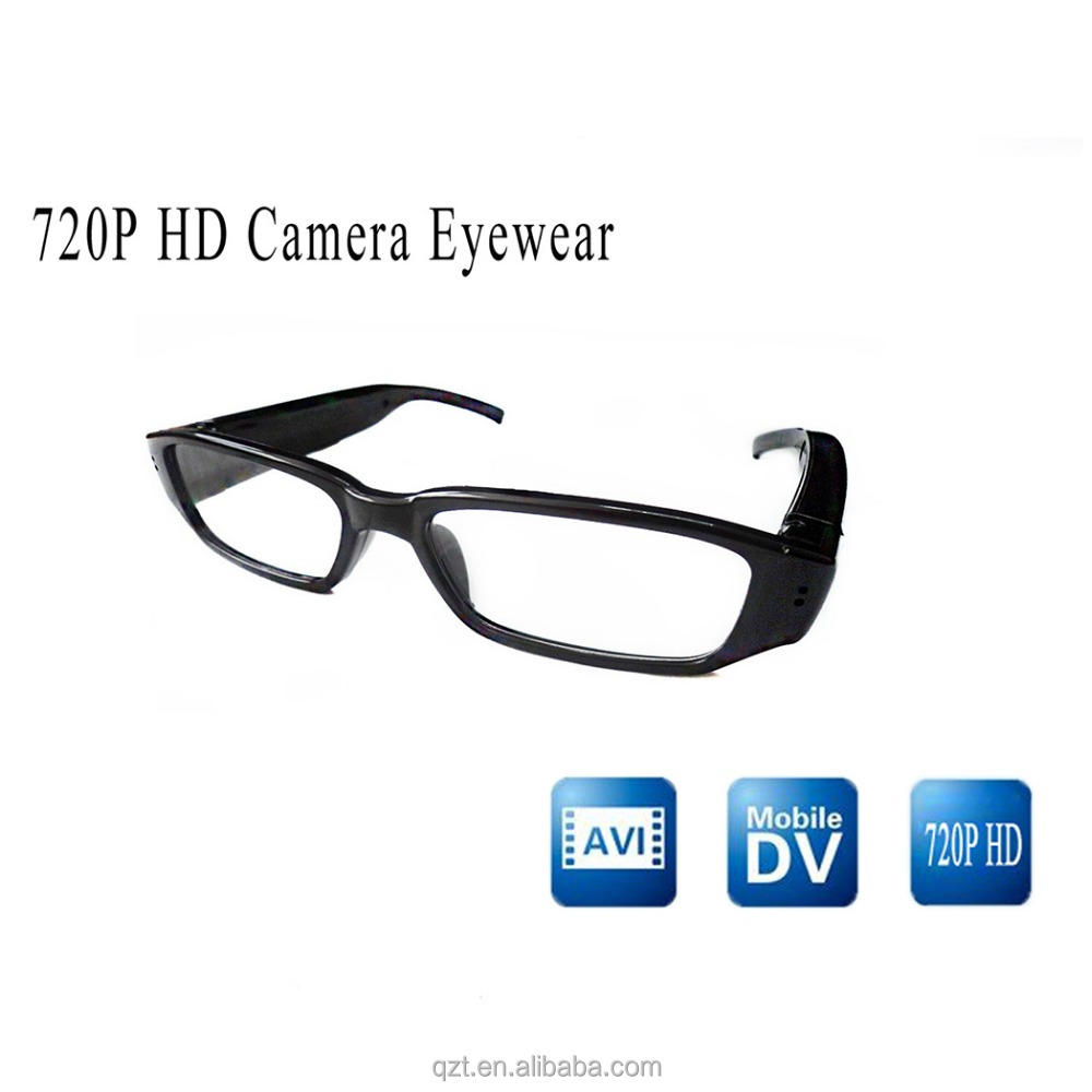 Cheapest HD720 video recording glasses with encryption read disk spy hidden camera