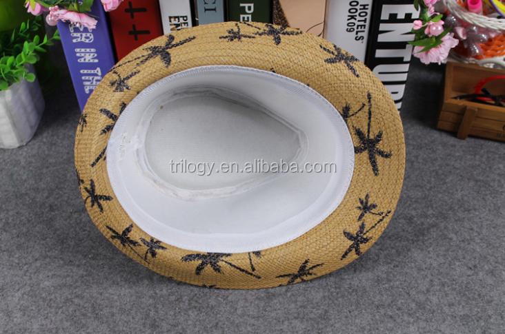 dfe3879c3956a alibaba assurance wholesale fedora trilby hats ecuador coconut tree printed  panama hats with black band