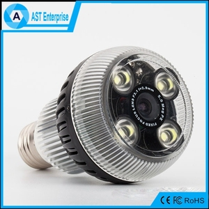 2016 hot sale bulb ip camera wifi 4 led e27 night vision 1080p hd hidden camera light bulb