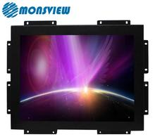 12 inch resistive touch screen open frame lcd monitor for industrial Wins MAC Andriod OS