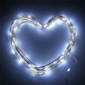 10M 33ft 100 led Solar Powered Christmas Festival Wedding Party Decor Fairy Lamp Blue copper wire light chain