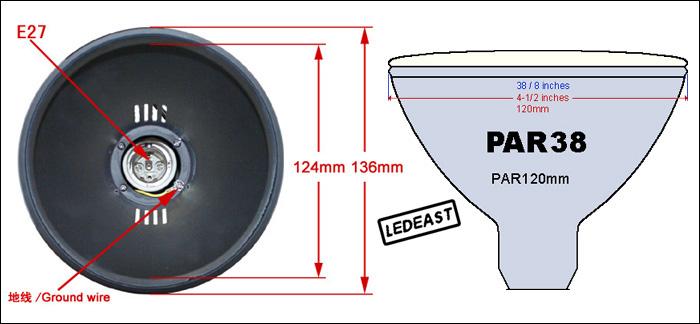 Par38 E27 Led Light 2-pins White Or Black Track Light Fixture ...