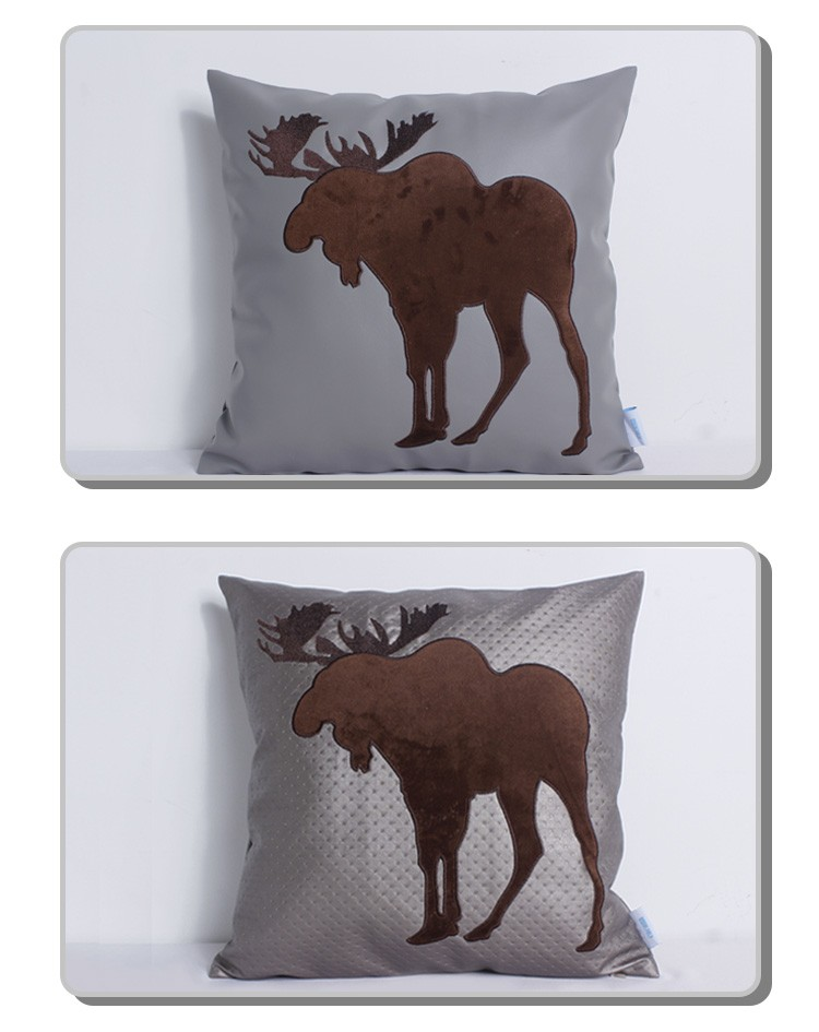 Faux Deer Hide Pillows : Fake Leather Embroidery Deer Design For Fancy Pillow Case - Buy Pillow,Embroidery Baby Pillow ...