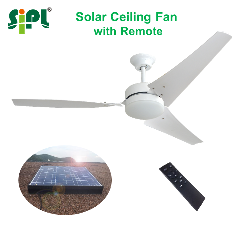 60 Inch 400 Watt Solar Panel Powered Solar Ceiling Fan