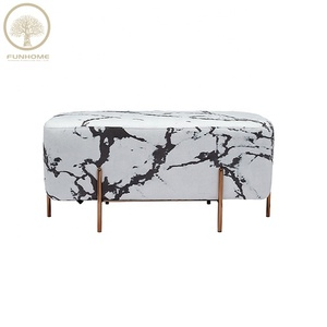 High quality ottoman gold indian fur stool in low price