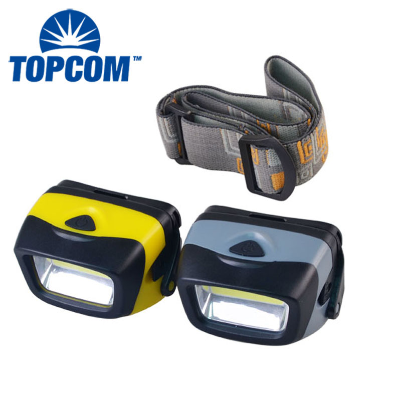 Manufacturers 3W AAA Battery Powered Mini COB LED HeadLamp For Camping Running