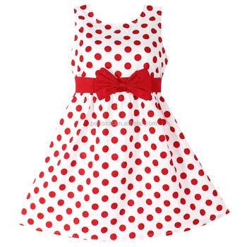 Mädchen Baby Kleider Red Polka Dot Reine Baumwolle Partei Geburtstag ...