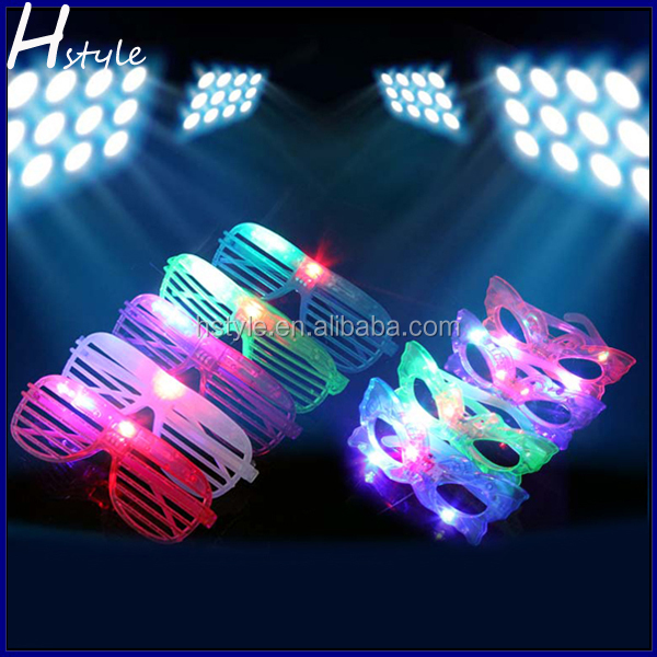 Creative Glow In The Dark Plastic Glowing Eye Party Led Glasses SL020