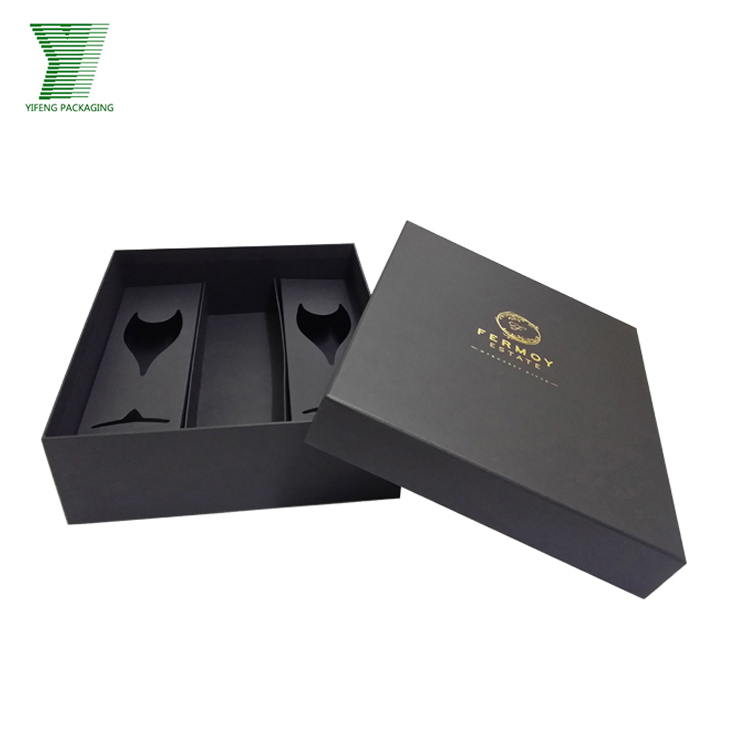 Luxury Custom Packaging Champagne Bottle Gift Box With Paper Insert wine gift box with magnetic cover