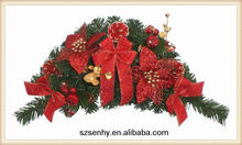 Artificial flowers christmas wreaths bulk wholesale