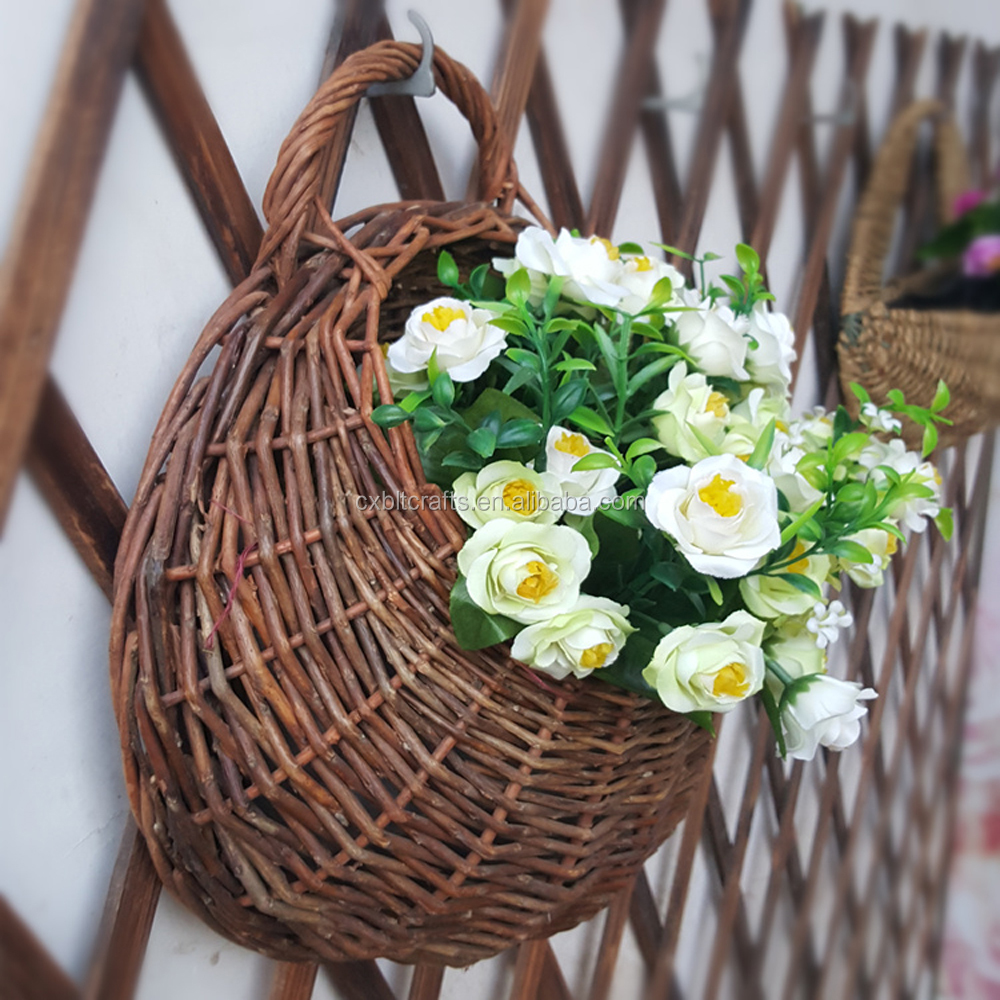 Hanging Flower Baskets Supplier : Hanging planter basket weave self watering