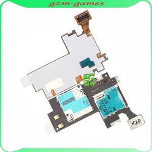 sim card slot holder flex cable,For Samsung Galaxy Note 2 ii N7100 SIM Card Connector and Memory Card Holder Flex Cable