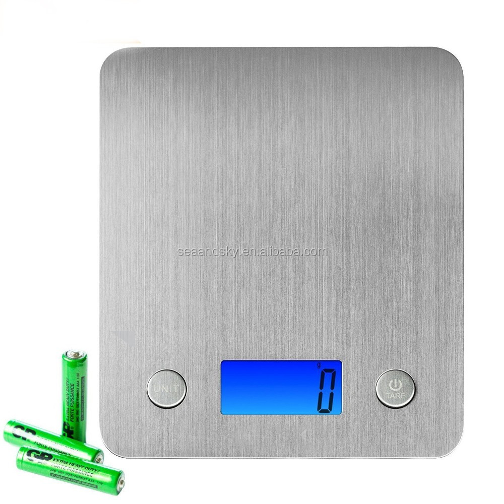 Stainless Steel Platform 11lb 5kg Digital Kitchen Scale