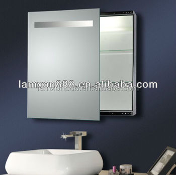 Electric Bathroom Mirror Cabinet With Light Sliding Led Illuminated