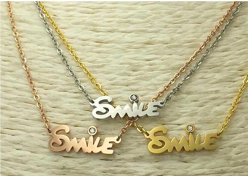 China Manufacturer Cheap Custom Engraved Design 14k Gold Plated Stamp Name Necklace