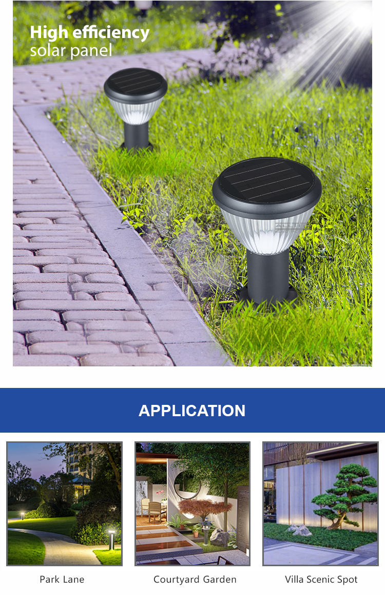 ALLTOP 3 Years warranty CE RoHS outdoor lighting waterproof IP65 5w solar led garden light