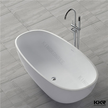 Oval bathtub 2 persons solid surface freestanding baths for Oval tub sizes
