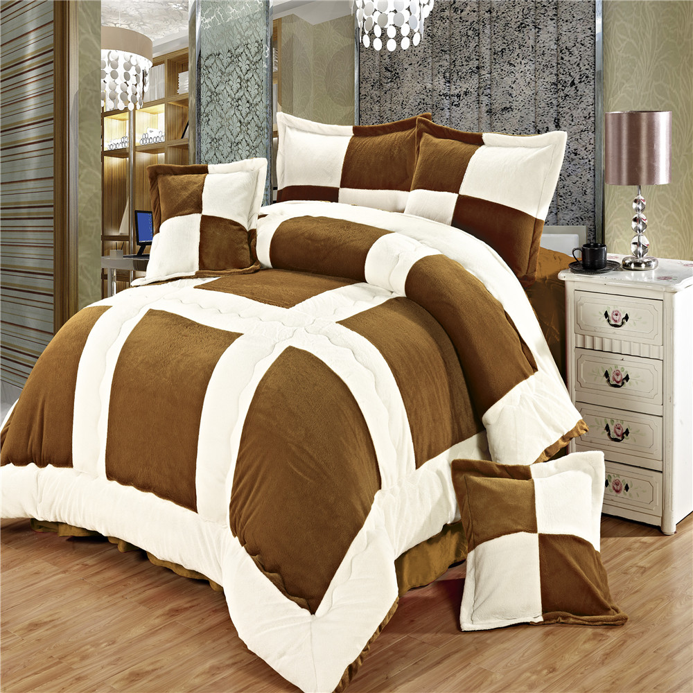China Supplier patchwork Duvet short plush queen size comforter