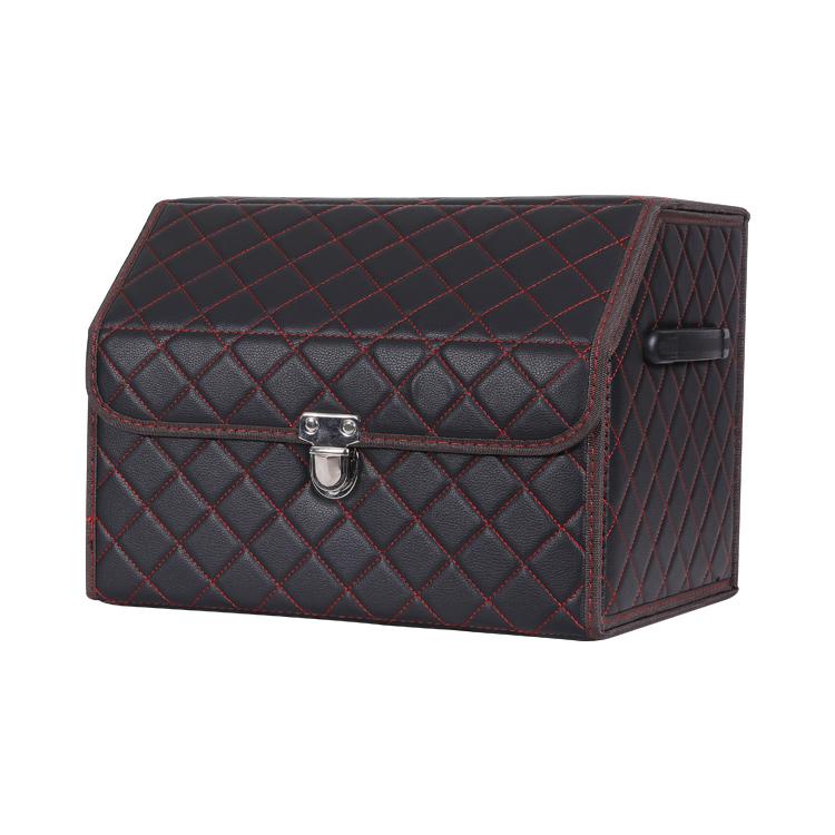 Premium Multi-funktion Faltbare PU Leder Auto Lagerung Organizer Bin Container Box für Alle Auto Stamm Staorage