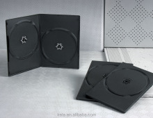 Wholesale Plastic Black 7mm Double DVD Case