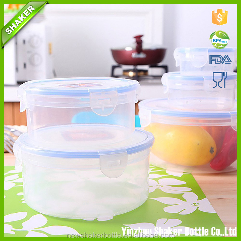 5-in-1 Food Container Environmently Food Grade Plastic Fresh-Keeping Box Fridge Multi Capacity Save Space For Kitchen