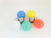 free samples energy saving e27 spherical 1w-1.5w egg shaped led light green/bule/red/yellow/white