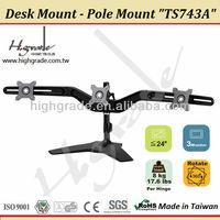 Multi 3 LCD monitor adjustable Arm Pole Mount Stand