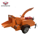 Diesel engine wood chipper tree branches shredder with CE