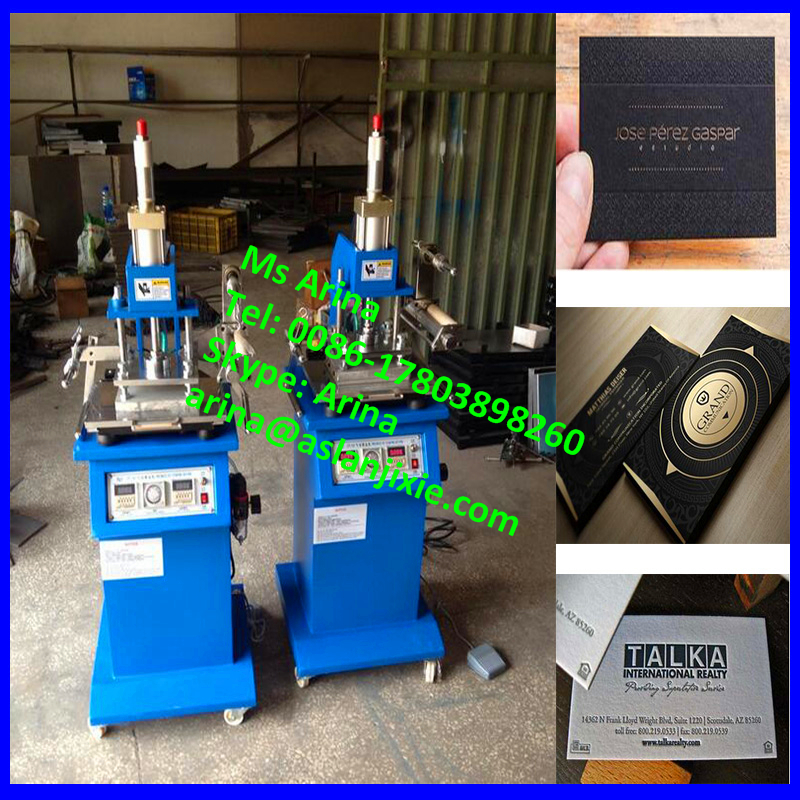 the pneumatic bronzing machine/ trademark hot stamping machine/ business card gilding press machine