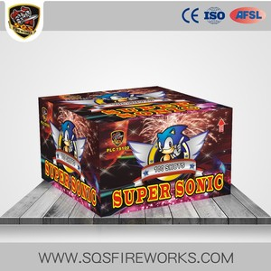 Wholesale Battery Pyro 100 Shots big Cake Fireworks Salute Fireworks