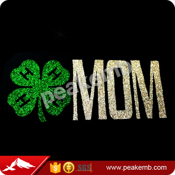 2017 Glitter Motif Irish Mom Heat Printable Transfer for Shirts