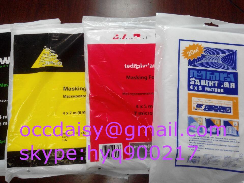 disposable pe plastic drop cloth masking sheet drop sheeting