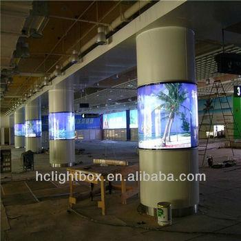 Led Strip Round Pillar Column Light Box Buy Totem Light