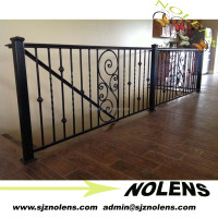 Factory Direct Price Modern Indoor Ornamental Curved Wrought Iron Railings