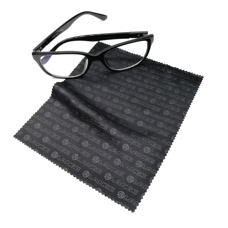 블랙 마이크로 화이버 안경 렌즈 청소 천 사용자 정의 양각 인쇄 로고