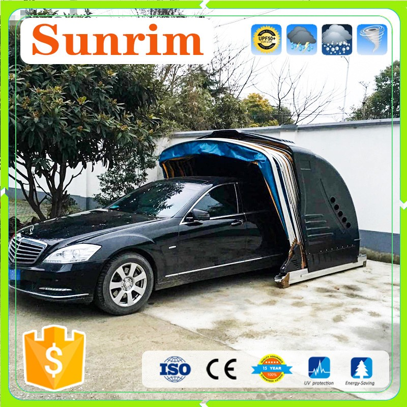 R tractable lectrique carport colonne garage toit et - Garage mobile per auto ...