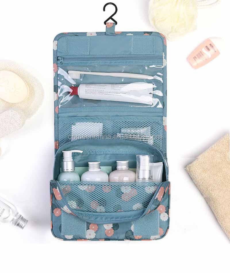 OEM Wholesale Expandable Travel Printed Portable Toiletry Wash Bag