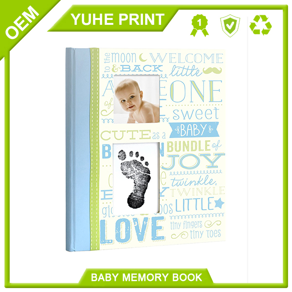 Color printing hardback cheap well designed manufacture hardbound baby memory book